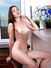 Check Out This Slim Teen Cutie That Teases And Poses For The Camera As She Walks Around The House Wi