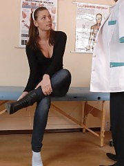 Shocking footsies of her first male doctor