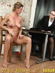 Gyno exam and dildo sex domination at the interview