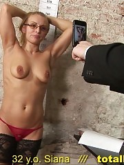 Gynecological sex interview of a secretary pussy