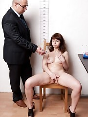 Secretary pussy examined by male job interviewers
