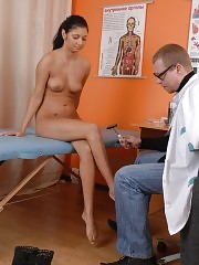 Coy patient of a shameless male doctor