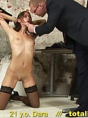 Secretary undressed for stress hardcore testing