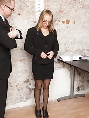 Naked secretary fucking for her new job