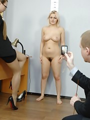 Totally undressed test of a big-boobed candidate