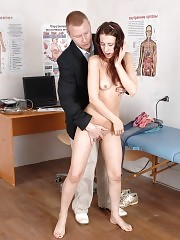 Unclad med examinee attacked by lusty doctor