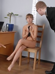 Toy-fuck shame of an undressed job applicant