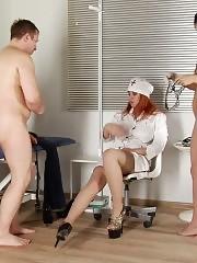 Doctor helps a nurse become a femdom bitch