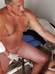 Crazy CFNM examination and hard sperm donation