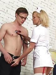 Sperm donation under nurse femdom control