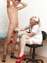 Crazy nurse wanna see erection and subjection