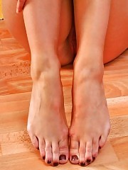 Blonde girl is hot, her feet even hotter!