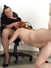 Lesdom shower after sport castigation and spanking