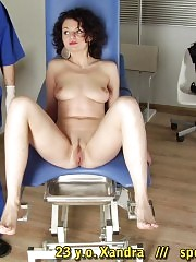 Gaping holes of a curly gyno slave