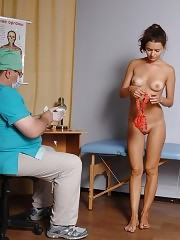 Breast palpation and gyno exam with fingers and a speculum