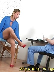 Gynecologist inserts a medical gag and a speculum