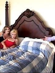 Two Girls Fucked In Turns By One Greedy Man.