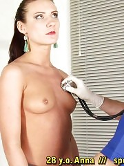 Humiliating oral exam after hard breast inspection