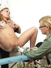 Blondie caught for a full body customs examination