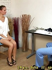 Nervous patient of a doctor with anal sex fetish
