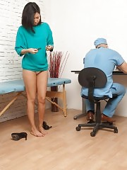 Maledom at the medical exam of an Asian girl
