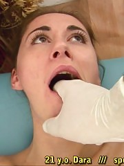 Whitehead mouth gag used by a pussy doctor