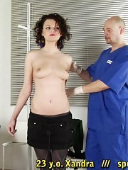 BDSM gynecologist and his patient with a whitehead gag