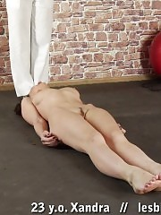 Gym milf trains a babe till she cums