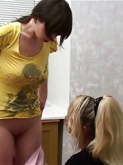 Big-titted gymnast and her lesbian coach