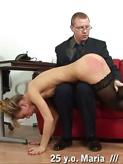 Principal disciplines a teacher in stockings