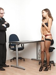 Painful office disciplining over the knee