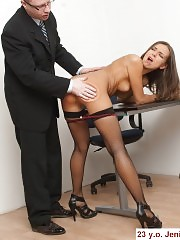Office slut undressed for a discipline session