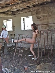 Typical workout at a nude ballet school