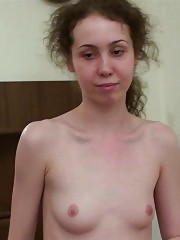 Lean curly missy does nude workouts