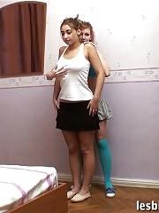 Busty teen bbw trained by a lesbian milf