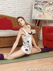 Stretches in the leg warmers done with pleasure