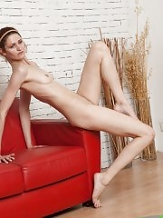 Nude yoga asanas for back and long legs