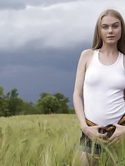 A landscape makes everything more beautiful, but you forget about it once she starts to see more of this teen skin.