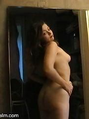 Amateur masturbating on the sofa