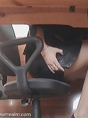 Upskirt panty voyeur and masturbation shots