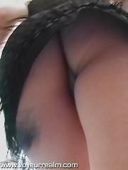 Outdoor summer upskirt panty voyeur shots